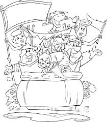 the flintstones coloring pages