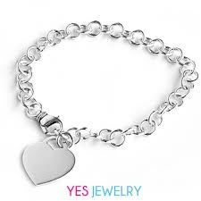jewelry sterling charm bracelet images Silver bracelet with heart charm jpg