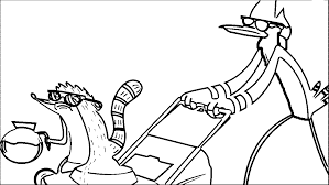 regular show cartoon network 386 cartoon network coloring page