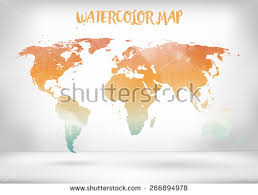 vector map of the world free watercolor world map vector free vector stock