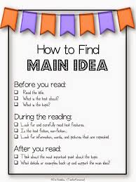 freebie center for identifying main idea and detail be sure to
