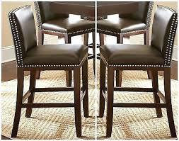 Leather Bar Stool With Back Stools Faux Leather Stool Cushions Faux Leather Bar Stools With