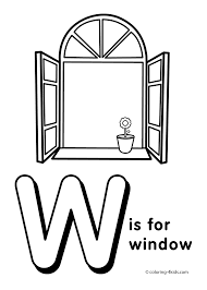 letter w coloring pages coloring pages pinterest preschool