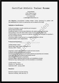 athletic trainer resume resume template 2017