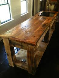Custom Island Kitchen Hand Crafted Rustic Kitchen Island By E B Mann Custommade Com