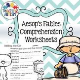 aesops fables with comprehension questions teaching resources