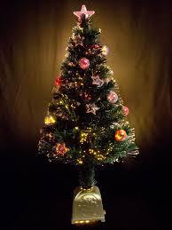 multi colour with bauble decorations fibre optic tree 1 2