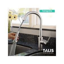 hansgrohe kitchen faucets hansgrohe 06801861 steel optik talis s variarc pull spray
