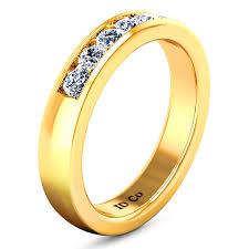 hudson wedding band diamond wedding band hudson 0 35 cts 14k yellow gold imagine
