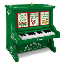 caroling piano musical ornament keepsake ornaments hallmark