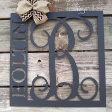 front door hanger front door wreath last name sign home decor