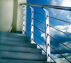 Contemporary Handrails Stainless Steel Railing Glass Panel With Bars Outdoor Marretti