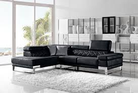 Modern Leather Sectional Couch Casa Arden Modern Black Fabric Sectional Sofa