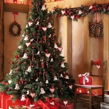 and white decorated trees decoration traditional