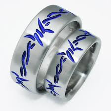 blue titanium wedding band dixon 5 titanium ring with barbed wire titanium wedding rings