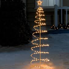 lighted decorations 6 lighted spiral tree