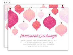 ornament exchange invitation wording ideas stationery