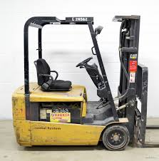 2005 caterpillar 4000 lb 36v electric 3 wheel forklift cat ep20kt