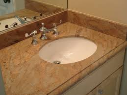 bathroom vanity granite backsplash home design ideas