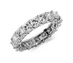 eternity rings diamonds images Cushion cut diamond eternity ring in platinum 4 ct tw blue nile