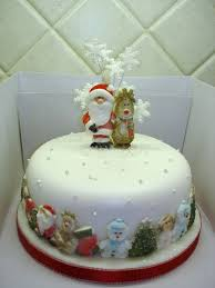 Christmas Cake Decorations Figures by 355 Best Small Christmas Cakes Images On Pinterest Christmas