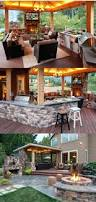patio ideas i like the two level patio the fire pit the lighting