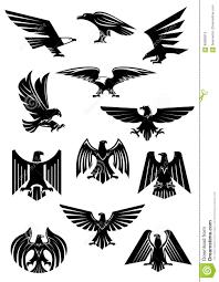 eagle or falcon aquila or hawk heraldic badge stock vector
