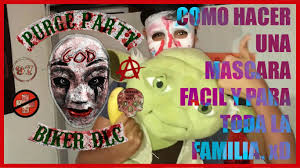 spirit halloween el paso como hacer una mascara como the purge facil y rapido para