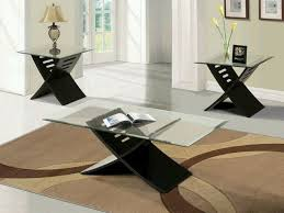 3 piece black coffee table sets amazing design black living room table set fancy ideas coffee tables