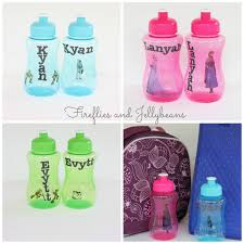 fireflies and jellybeans easy diy personalized water bottles
