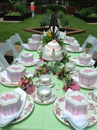 tea party tables birthday party ideas garden tea party