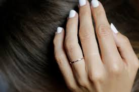 thin gold wedding band gold diamond band dainty wedding ring gold wedding