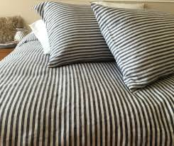 Custom Comforters And Bedspreads O Navy Ticking Striped Duvet Cover 4 Jpg T U003d1466621234