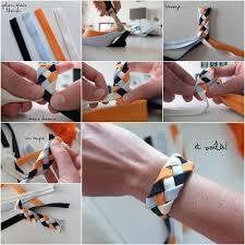 braid hand bracelet images How to diy 4 strand braided ribbon bracelet jpg
