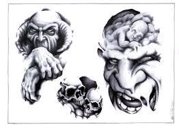 skull adn design img89 skulls demons flash tatto