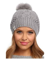 ugg sale policy ugg nyla shearling pom pom beanie in gray lyst