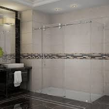 Sliding Glass Shower Doors Over Tub by Dreamline Enigma Z 44 3 8 To 48 3 8 In X 34 1 2 In X 76 In