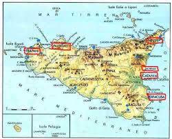 Sicily Italy Map Italian Hallmarks Sicily 18th Century