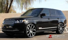 land rover hse 2016 24 inch lexani lust gloss black milled wheels on 2014 range rover