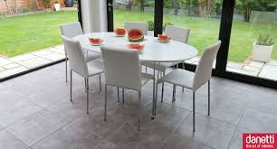 furniture white oval dining table set and back dining chairs also