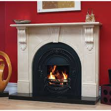 victorian arch marfil stone fireplace