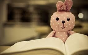 Book Wallpaper by Cute Toys Bunny Red Book Photos Babbit Bokeh Hd Wallpaper