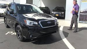 subaru outback black 2017 2018 subaru forester review black edition youtube