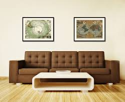 vintage home interior products antarctica south pole vintage antique map wall art bedroom home