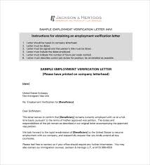 doc 8061024 employment verification letter template word