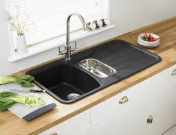Porcelain Kitchen Sinks by Kitchen Sink With Drainboard For Make Easy To Wash Kitchen
