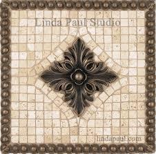 Metal Wall Tiles Kitchen Backsplash Kitchen Backsplash Medallions Mosaic Tile Metal Backsplashes