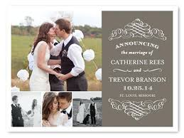 wedding announcement cards wedding announcements and invitations monogram collage just married