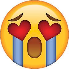 Meme Heart - crying heart eyes secret emoji funny internet meme stickers by