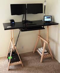 Ikea Adjustable Desk Legs Desk Standing Legs Ikea Only Motorized Intended For New